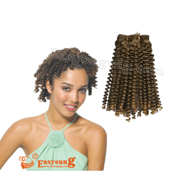 Hand Made Kink Curly Hair Weavehair Piece For African Women 21hair
