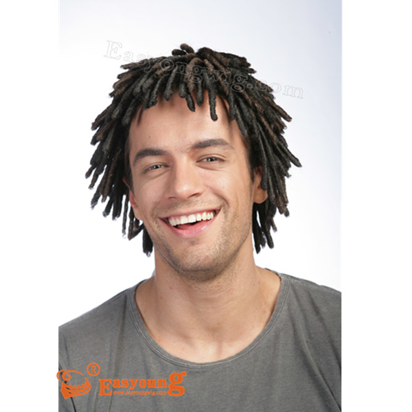 dreadlocks braids hair wig for black men 0001mens wig