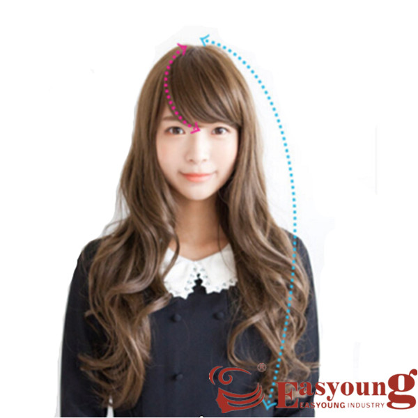 Full lace wig,lady's futura long curly wig LF010