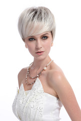 Wholesale blonde short wig hair style for lady YS-9092