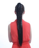 Long braid claw clip ponytail hair pieces  YS-8103