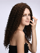 Long curly hair style wigs for African Americans 9480