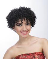 Lady's short wig,afro curly wig for black women E0706