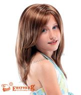 Long blonde wigs for Kids YSC-04
