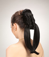 Cospaly horn hairpieces,synthetic braids ponytail hair YS-8181