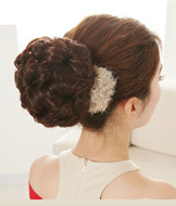 Chignon Type and Synthetic Hair bun pieces 7-flowers