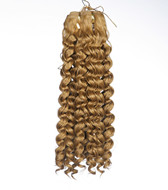 Gold blonde afro curly hair for hair extension  12